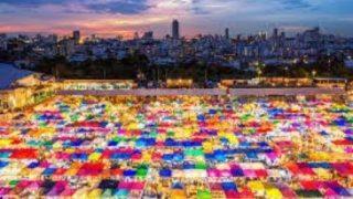BANGKOK NIGHT MARKET (AERIAL DRONE VIEW 2019)